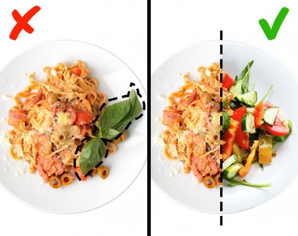 Luôn ăn nửa khẩu phần là rau xanh