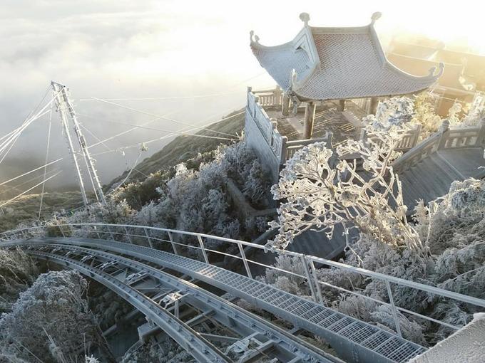 Băng tuyết phủ trên đỉnh Fasipang
