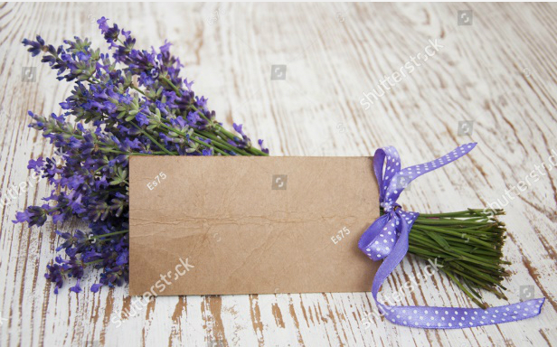 Một bó hoa oải hương và tấm thiệp viết lời có cánh của chàng sẽ khiến nàng xao xuyến.