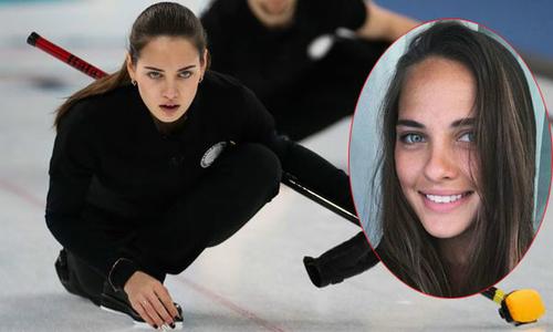 Người đẹp môn bi đá trên băng gây xôn xao vì giống Angelina Jolie ngày trẻ
