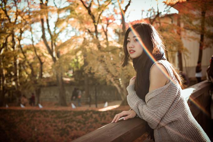 Á hậu cao nhất Việt Nam trễ nải vai trần ở Nhật Bản - 2