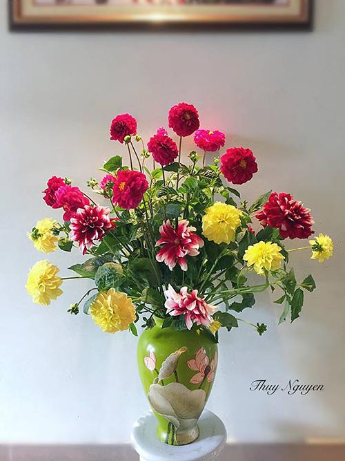 Mẹ Hà thành chia sẻ bí quyết cắm hoa đẹp chơi Tết - 6