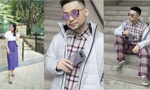Mix đồ thời thượng cùng sắc tím như các fashionista Việt