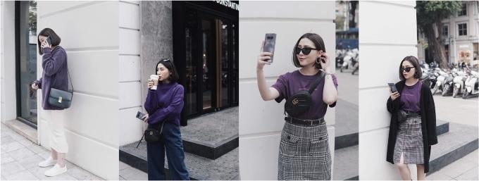 Heo Mi Nhon sở hữu phong cách thời trang cá tính.
