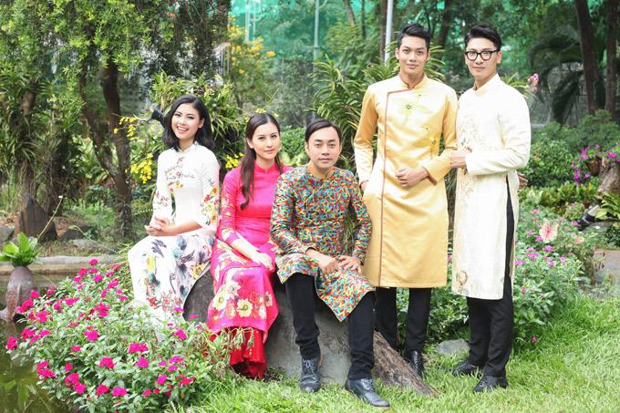 Đạo diễn hình ảnh Đỗ Kim Khánh (giữa) và chuyên gia trang điểm Bùi Thái, Phát Huy hỗ trợ thực hiện bộ ảnh này.
