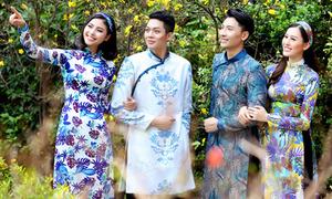 Đào Hà, Hà Lade xúng xính áo dài đi chơi xuân cùng nam đồng nghiệp