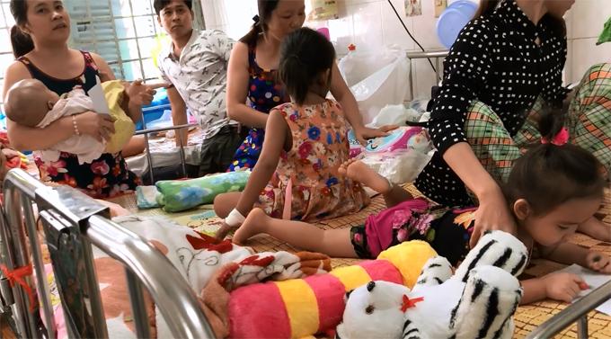 Cảnh khoa Bướu Nhi Bệnh viện Ung Bướu TP HCM ngày cuối năm. Ảnh: Thiên Chương