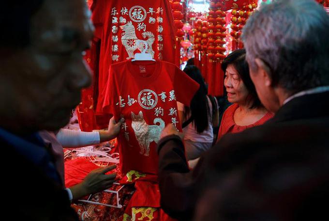 Không khí đón năm Mậu Tuất tưng bừng khắp châu Á