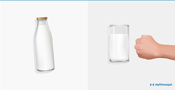 Nên uống một cốc sữa ước lượng bằng một nắm tay.