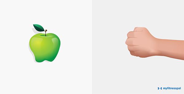 Định lượng cho các loại hoa quả tươi là một nắm tay.