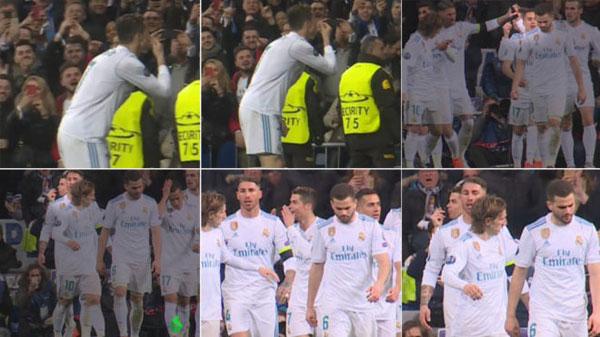 Hành động lạ của C. Ronaldo trong trận thắng PSG hôm 15/2.