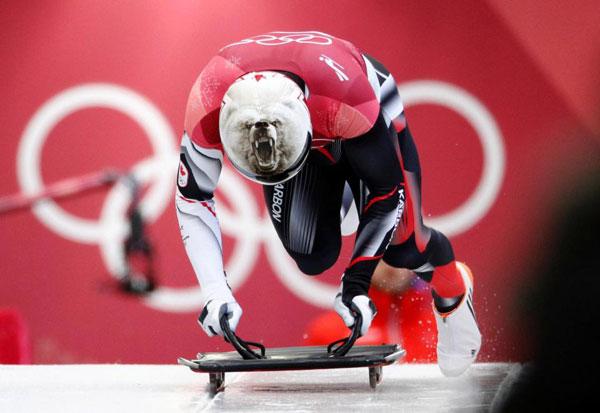 Thời trang mũ không đụng hàng của các VĐV trượt băng nằm sấp - 2