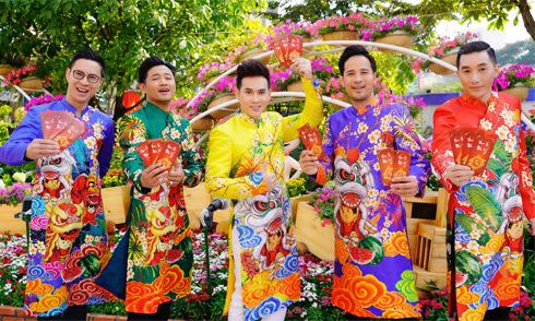 Quý Bình, Nguyên Vũ cùng dàn nghệ sĩ nam rủ nhau du xuân