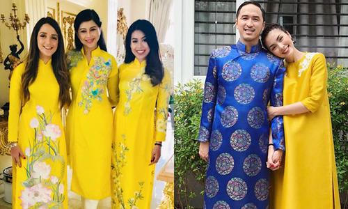 Đại gia đình Tăng Thanh Hà rộn ràng đón Tết, đi chơi xuân
