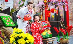 Lưu Chí Vỹ và Hoa hậu Lê Thanh Thúy tung bộ ảnh mừng xuân