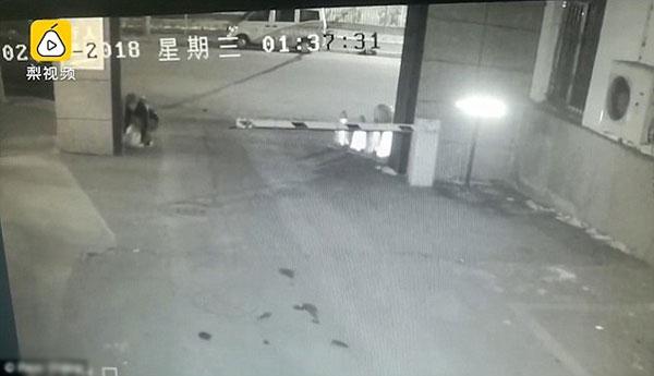 Bé trai sơ sinh bị vứt bỏ trên đường khi trời lạnh âm 20 độ C