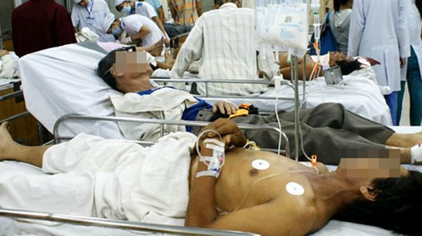 Lượng người cấp cứu tại Bệnh viện Chợ Rẫy trong những dịp lễ Tết luôn cao. Ảnh: Thiên Chương