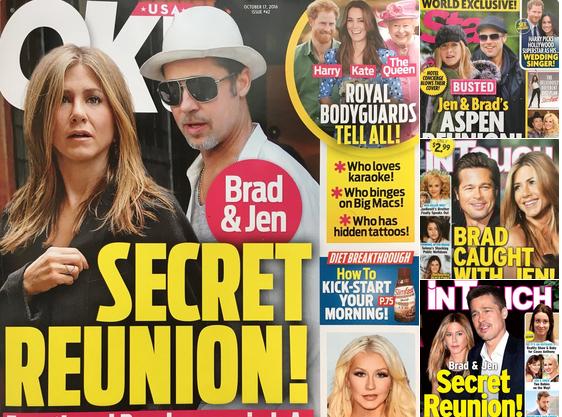 Rộ tin đồn Jen và Brad bí mật quay lại với nhau sau 13 năm ly hôn.