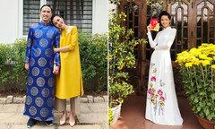 Sao Việt diện áo dài du xuân