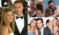 Hai cuộc hôn nhân đổ vỡ và hơn 10 mối tình dang dở của Jennifer Aniston
