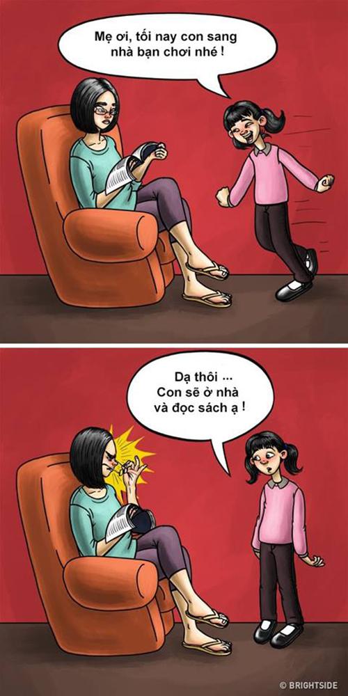 Mẹ có thể làm thay đổi suy nghĩ của chúng ta ngay cả khi chưa nói một lời nào.