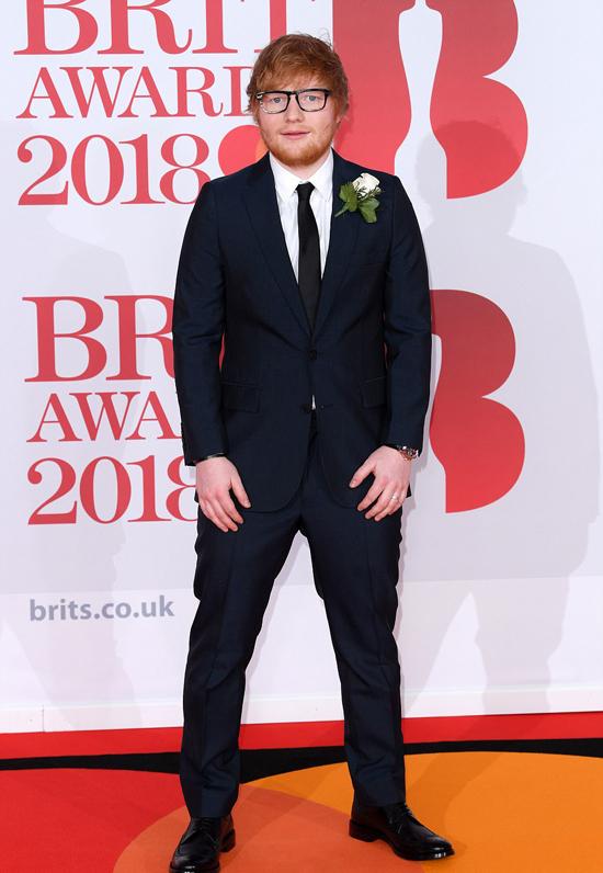 Ca sĩ Ed Sheeran.
