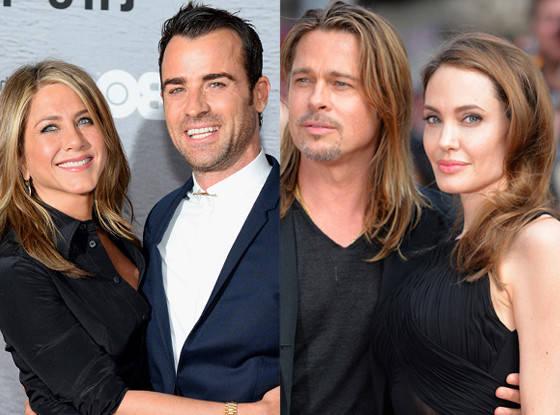 Hôn nhân của Jennifer với Justin, Brad với Angelina đều đã tan vỡ.