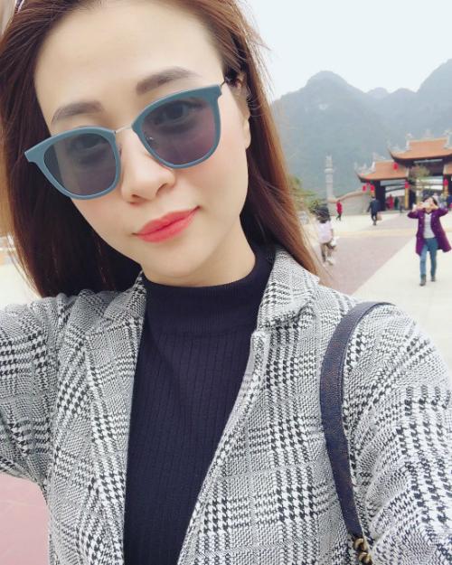 Đàm Thu Trang trở về quê hương sau khi cùng cả gia đình đón Tết bên bạn trai Cường Đôla ở TP HCM.