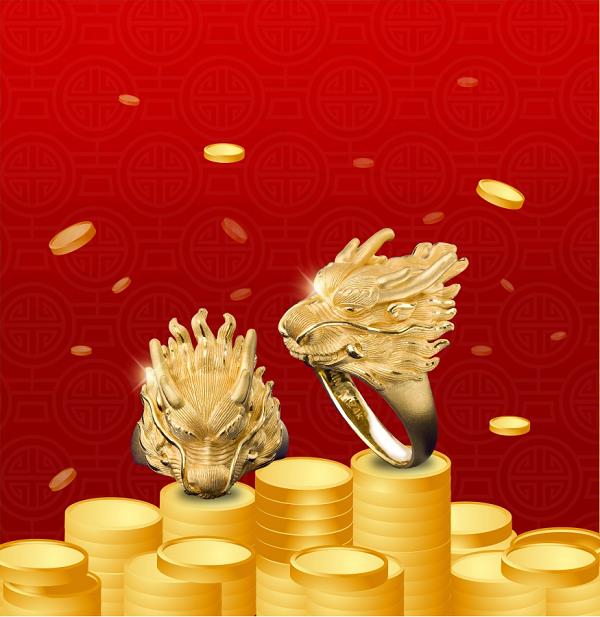 Vàng tinh khiết 24Kvới khả năng thu hút tài lộc mạnh mẽ.