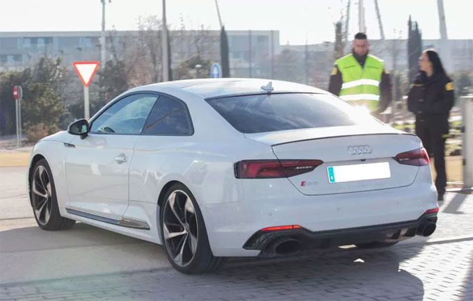 The RS5 that Lucas Vazquez rides is worth around £62k