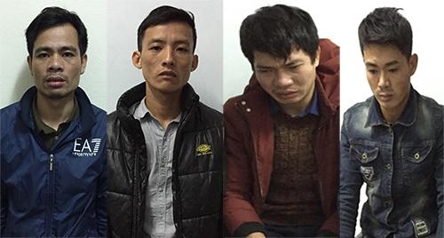 Bốn nghi can bị cảnh sát khởi tố. Ảnh: H.L