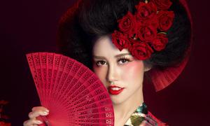Emily Hồng Nhung hóa gái Nhật với ba kiểu tóc