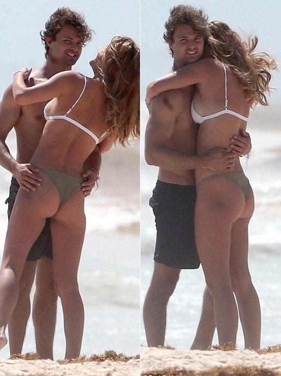 Jack quen Nina Agdal vào mùa hè năm ngoái, 2 tháng sau khi cô chia tay tài tử Leonardo DiCaprio. Gần đây cặp đôi mới công khai hẹn hò.