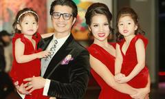 Vợ chồng Dustin Nguyễn đưa hai con sang Mỹ định cư
