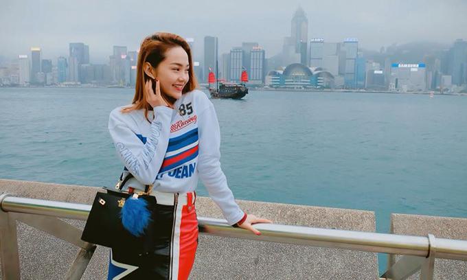 Minh Hằng khoe nốt những bức ảnh trong chuyến đi Hong Kong trước khi trở về nhà, bắt đầu công việc của năm mới.