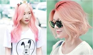 Mỹ nhân Hàn 'lăng xê' màu tóc nhuộm hồng khói