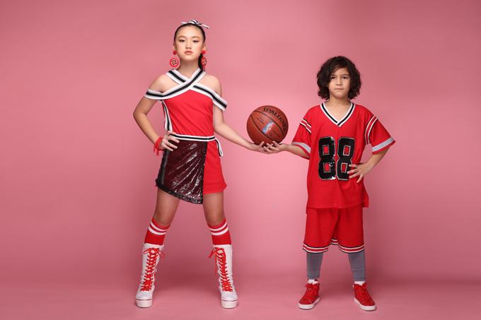 Bộ ảnh tổng hợp các mẫu quần áo thể thao dành cho bé trai và trang phục lấy cảm hứng từ các bộ môn thể dục dành cho bé gái.