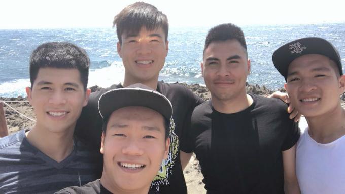 Dàn cầu thủ U23 gồm Duy Mạnh, Đình Trọng, Đức Huy