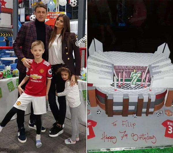 Matic và vợ tổ chức tiệc sinh nhật 7 tuổi cho con trai đầu lòng đậm chất MU.