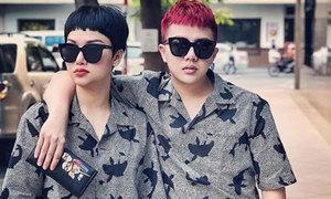 Những lần diện đồ đôi của cặp bạn thân Miu Lê - Duy Khánh