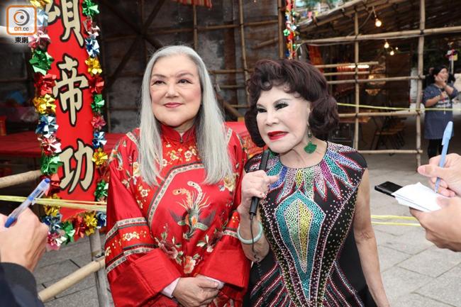 Hai búp bê màn ảnh Hong Kong mặt biến dạng ở tuổi lên lão
