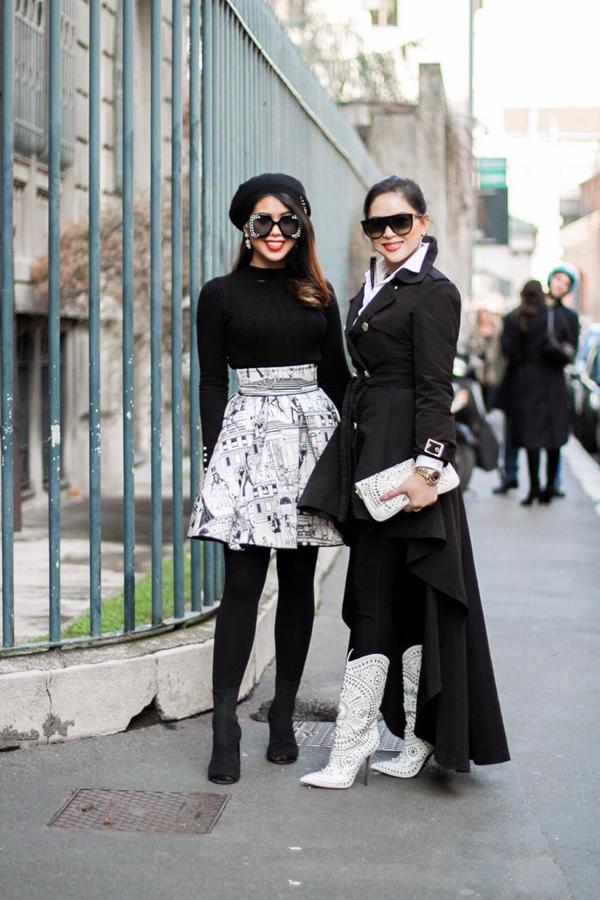 Milan Fashion Week là sự kiện thời trang thu hút rất nhiều ngôi sao nổi tiếng châu Á như Địch Lệ Nhiệt Ba, Lý Băng Băng, Cổ Lực Na Trát, Hyun Bin, Vương Tuấn Khải. Doanh nhân Thủy Tiên cùng con gái Thảo Tiên cũng không bỏ lỡ cơ hội được chiêm ngưỡng các bộ sưu tập mới nhất từ sàn diễn danh giá.