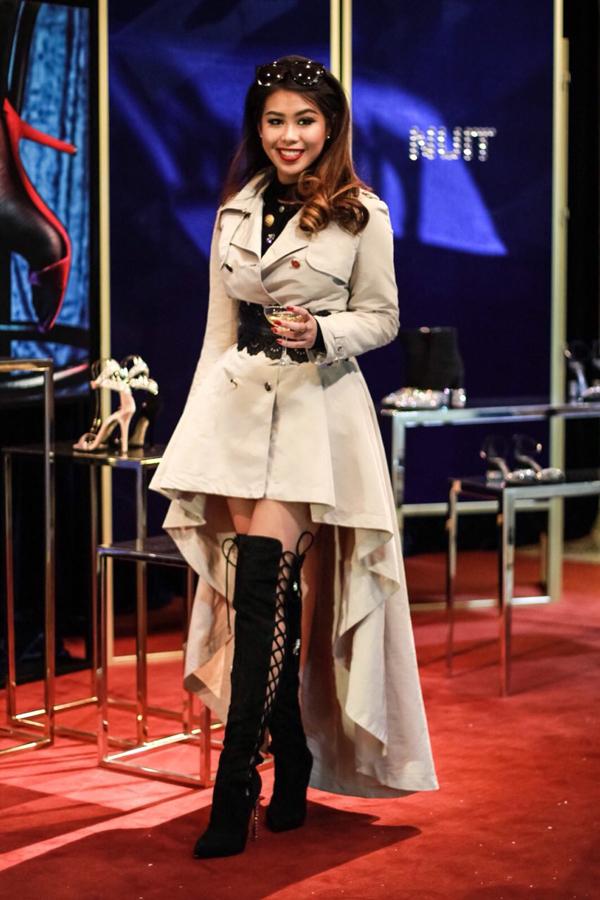 Tại tuần lễ thời trang Milan 2018, Thủy Tiên lần lượt theo dõi các show diễn trình làng các bộ sưu tập mới đến từ các nhà mốt như Roberto Cavalli, Versace, Ferragamo, Elizabetta Franchi, Emporio Armani, Dolce Gabbana.