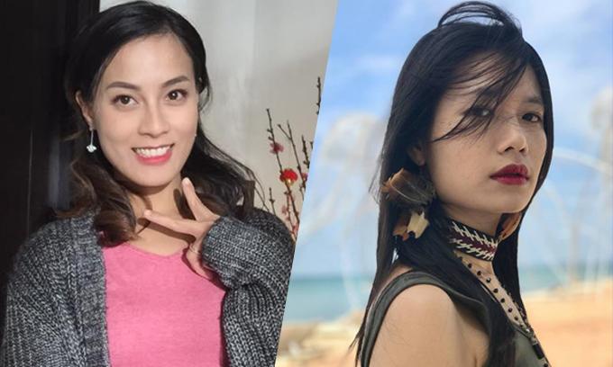 Ngọc Anh và Trà My và hai trong ba nữ diễn viên chính của Thương nhớ ở ai.