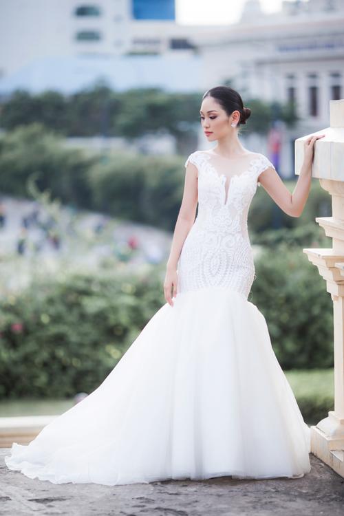 Bộ ảnh do chuyên gia trang điểm Trung Lạc, photo Phan Tiến Vũ, áo cưới Sang Nguyễn Bridal và cặp chị em người mẫu Thùy Linh - Phương Linh hỗ trợ thực hiện.