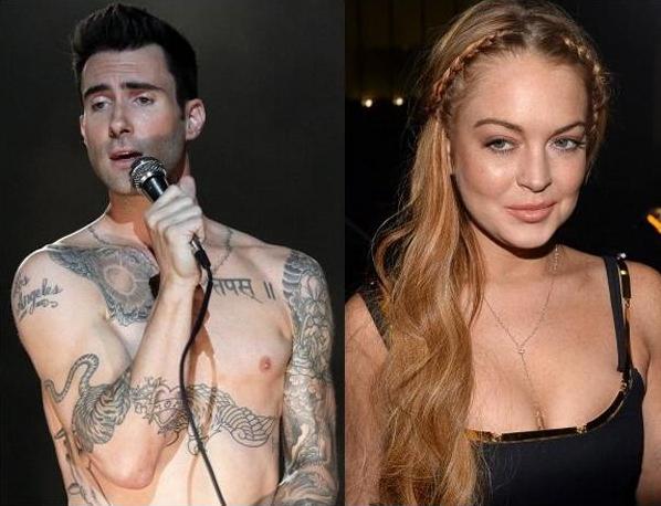 Adam từng lên giường với Lindsay Lohan.