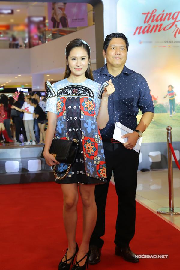 Thanh Thúy - Đức Thịnh sánh đôi tới ủng hộ phim mới của đạo diễn Nguyễn Quang Dũng.