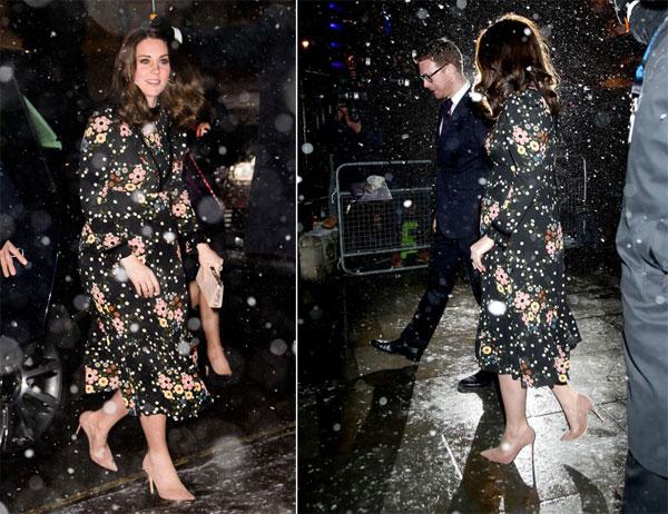 Kate xinh đẹp xuất hiện trước ống kính các phóng viên.