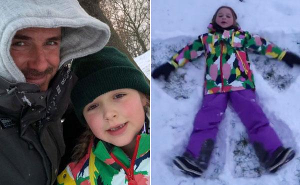 Becks và công chúa nhỏ Harper