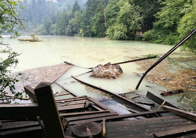 Trận động đất từng khiến công viên nổi tiếng này bị thiệt hại nặng nề.